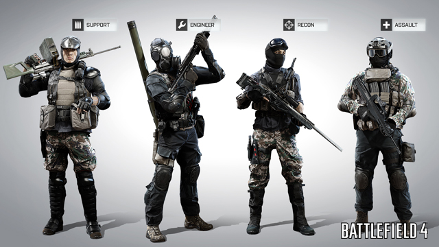 Meet the Chinese squad from Battlefield 4 with a sample setup of weapons and gear.
