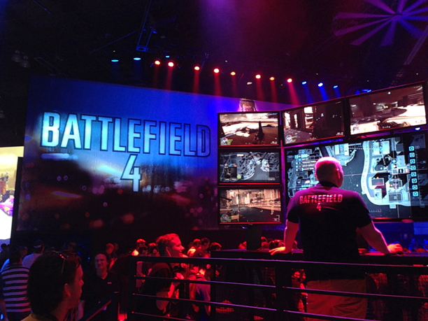 The Spectator Mode and live stream HQ in the Battlefield 4 booth